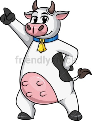 Cow mascot disco dancer. PNG