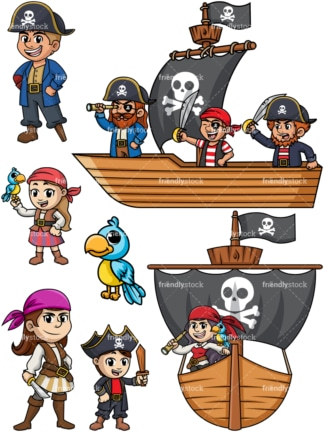 Pirates collection. PNG - JPG and vector EPS file formats (infinitely scalable).