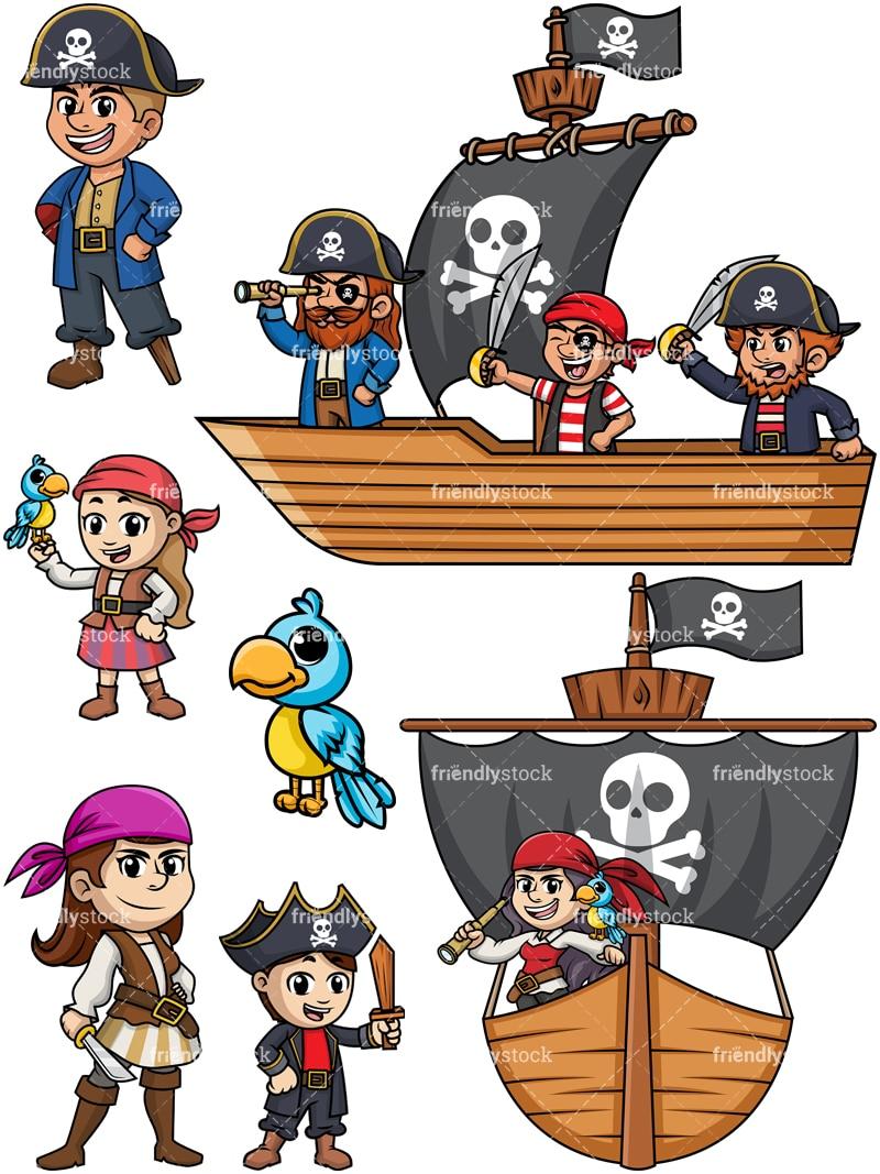 Pirates Collection - Cartoon Vector Clipart - FriendlyStock
