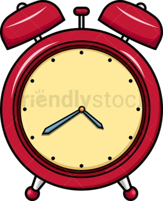Red vintage alarm clock icon. PNG - JPG and vector EPS file formats (infinitely scalable). Images isolated on transparent background.