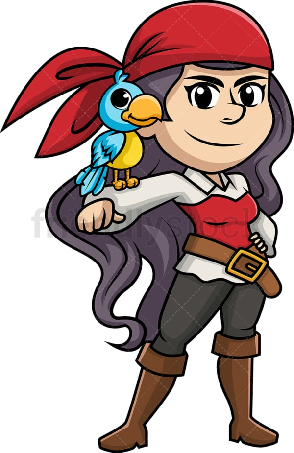 Fearsome female pirate. PNG - JPG and vector EPS (infinitely scalable).
