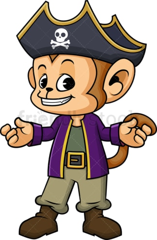 Monkey pirate. PNG - JPG and vector EPS (infinitely scalable). Image isolated on transparent background.