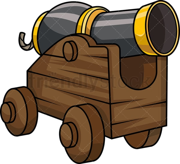 Pirate ship cannon. PNG - JPG and vector EPS file formats (infinitely scalable).