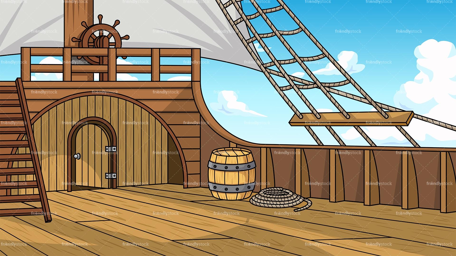 Pirate Ship Deck Backdrop Pirate Ship Deck Backg...
