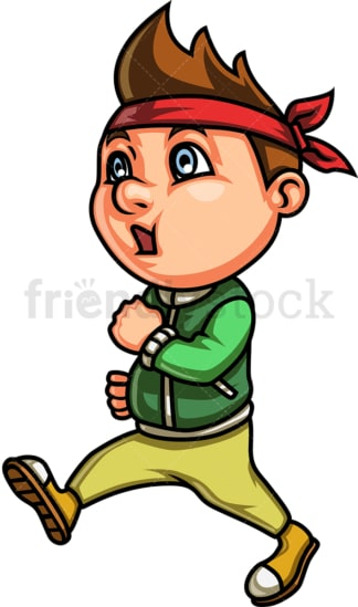 Kid power walking. PNG - JPG and vector EPS (infinitely scalable). Image isolated on transparent background.