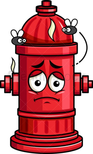 Stinky fire hydrant going bad emoticon. PNG - JPG and vector EPS file formats (infinitely scalable). Image isolated on transparent background.