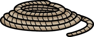Roll of rope. PNG - JPG and vector EPS file formats (infinitely scalable).