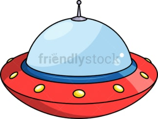 Cartoon flying saucer. PNG - JPG and vector EPS (infinitely scalable).