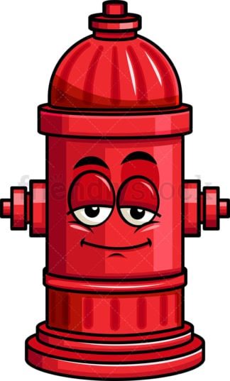 Sleepy fire hydrant emoticon. PNG - JPG and vector EPS file formats (infinitely scalable). Image isolated on transparent background.