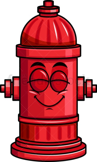 Delighted fire hydrant emoticon. PNG - JPG and vector EPS file formats (infinitely scalable). Image isolated on transparent background.
