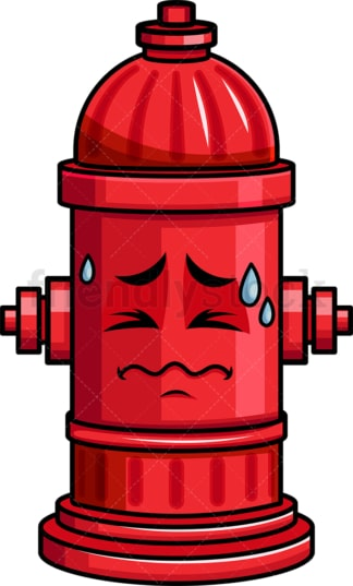 In Pain Fire Hydrant Emoticon. PNG - JPG and vector EPS file formats (infinitely scalable). Image isolated on transparent background.