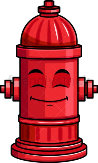 Happy looking fire hydrant emoticon. PNG - JPG and vector EPS file formats (infinitely scalable). Image isolated on transparent background.
