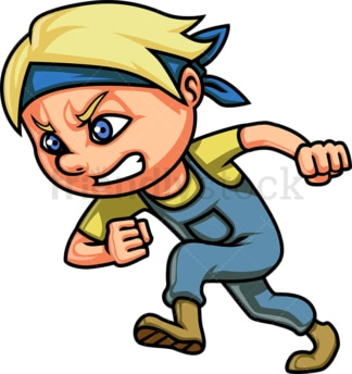 Little boy racing. PNG - JPG and vector EPS (infinitely scalable). Image isolated on transparent background.