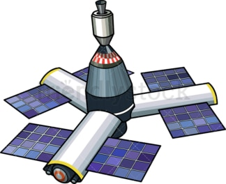 Orbital space station. PNG - JPG and vector EPS (infinitely scalable).