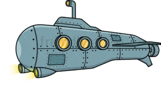 Submarine with periscope. PNG - JPG and vector EPS file formats (infinitely scalable).
