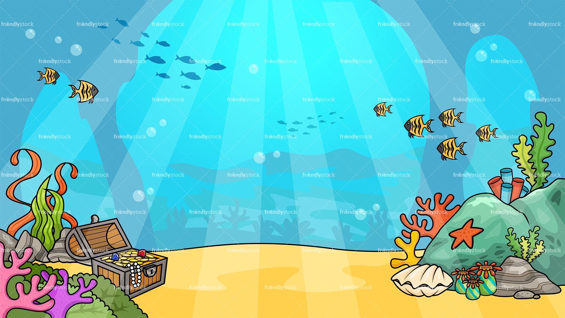 Underwater Background Cartoon Clipart - FriendlyStock