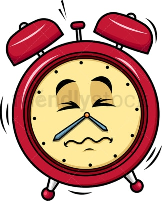 Ringing alarm clock emoticon. PNG - JPG and vector EPS file formats (infinitely scalable). Image isolated on transparent background.