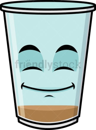 Empty iced coffee emoticon. PNG - JPG and vector EPS file formats (infinitely scalable). Image isolated on transparent background.