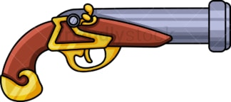 Pirate pistol. PNG - JPG and vector EPS (infinitely scalable).