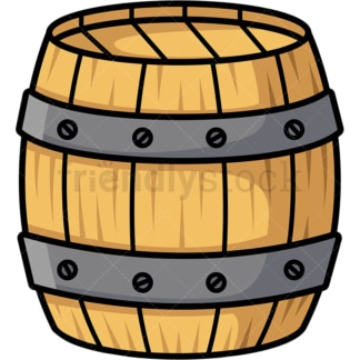 Wooden barrel. PNG - JPG and vector EPS file formats (infinitely scalable).