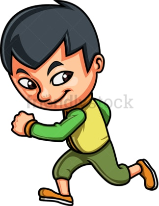 Little boy running. PNG - JPG and vector EPS (infinitely scalable). Image isolated on transparent background.