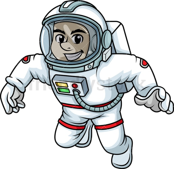 Male astronaut on a space walk. PNG - JPG and vector EPS (infinitely scalable). Image isolated on transparent background.