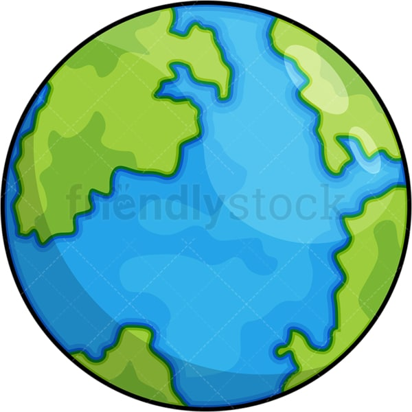 Planet earth cartoon. PNG - JPG and vector EPS (infinitely scalable).
