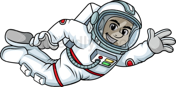 Male astronaut floating in space . PNG - JPG and vector EPS (infinitely scalable). Image isolated on transparent background.