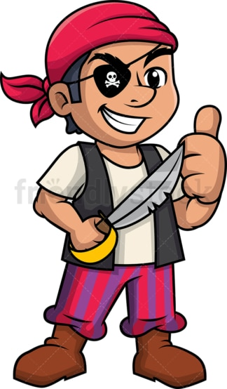 One eyed pirate giving the thumbs up. PNG - JPG and vector EPS (infinitely scalable).
