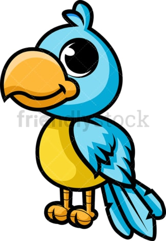 Adorable blue parrot. PNG - JPG and vector EPS (infinitely scalable).
