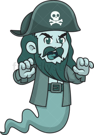 Scary pirate ghost spirit. PNG - JPG and vector EPS (infinitely scalable).
