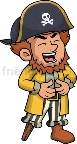 Laughing pirate. PNG - JPG and vector EPS (infinitely scalable). Image isolated on transparent background.