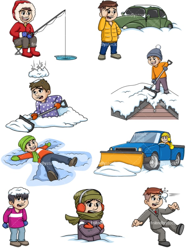 Men in the winter. PNG - JPG and vector EPS file formats (infinitely scalable).