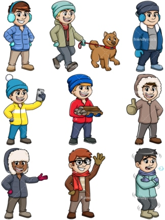 Men in winter. PNG - JPG and vector EPS file formats (infinitely scalable).