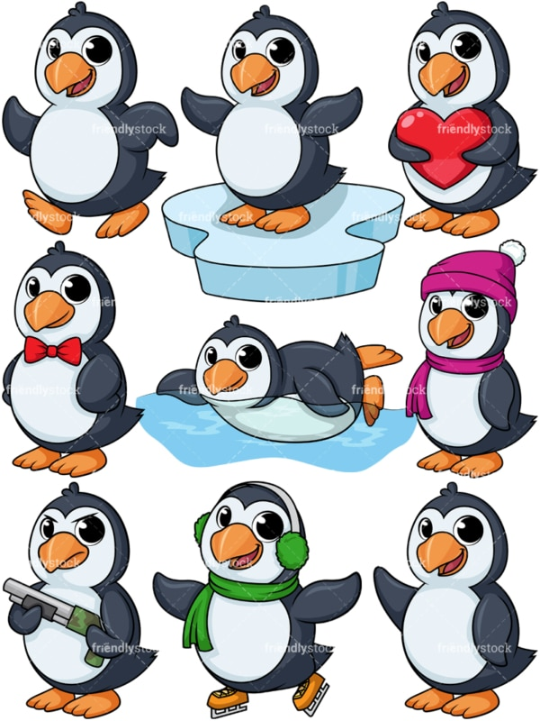 Penguin mascot character. PNG - JPG and vector EPS file formats (infinitely scalable).