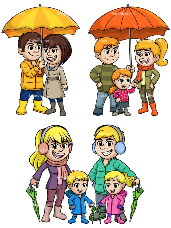 People ready for rain. PNG - JPG and vector EPS file formats (infinitely scalable).