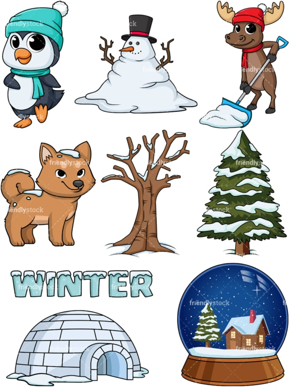 Winter season. PNG - JPG and vector EPS file formats (infinitely scalable).