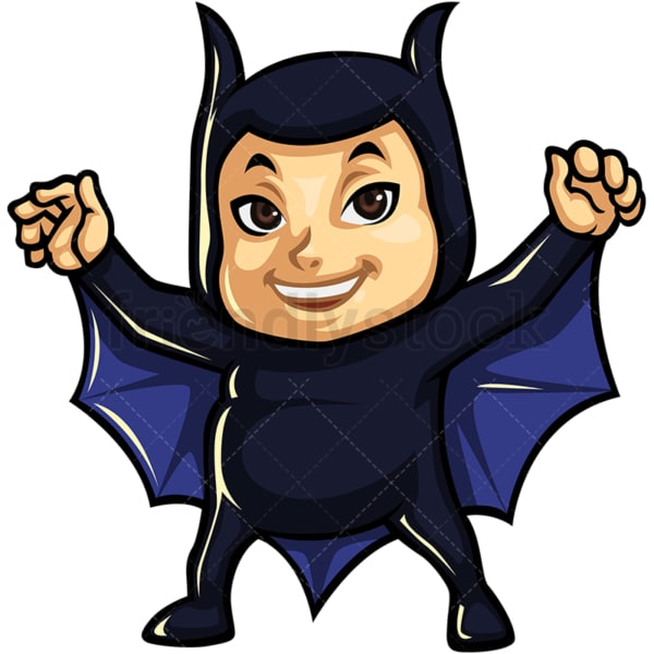 Child in bat boy costume. PNG - JPG and vector EPS (infinitely scalable).