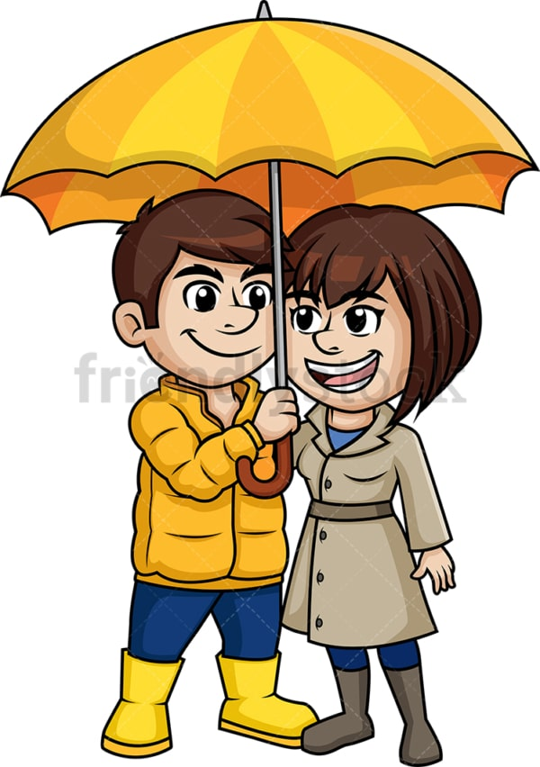 Couple under umbrella. PNG - JPG and vector EPS (infinitely scalable).