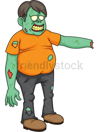 Fat zombie with arm cut off. PNG - JPG and vector EPS (infinitely scalable).