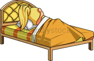 Little girl sleeping in her bed. PNG - JPG and vector EPS (infinitely scalable).