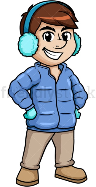 Man dressed for winter. PNG - JPG and vector EPS (infinitely scalable).