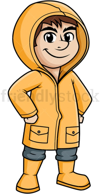 Guy wearing raincoat. PNG - JPG and vector EPS (infinitely scalable).