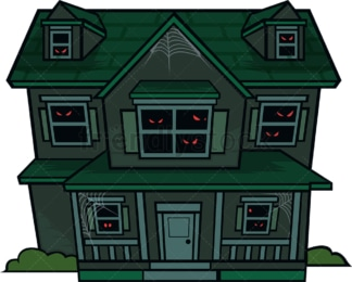 Haunted house. PNG - JPG and vector EPS file formats (infinitely scalable). Image isolated on transparent background.