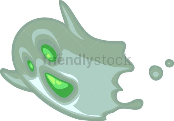 Cute little ghost. PNG - JPG and vector EPS file formats (infinitely scalable). Image isolated on transparent background.