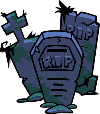 RIP tombstones. PNG - JPG and vector EPS file formats (infinitely scalable). Image isolated on transparent background.