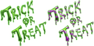 Trick or treat slime graffiti. PNG - JPG and vector EPS file formats (infinitely scalable). Image isolated on transparent background.