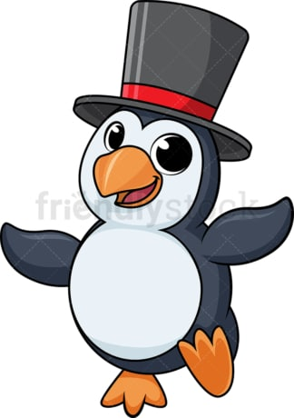 Dancing penguin cartoon. PNG - JPG and vector EPS (infinitely scalable).