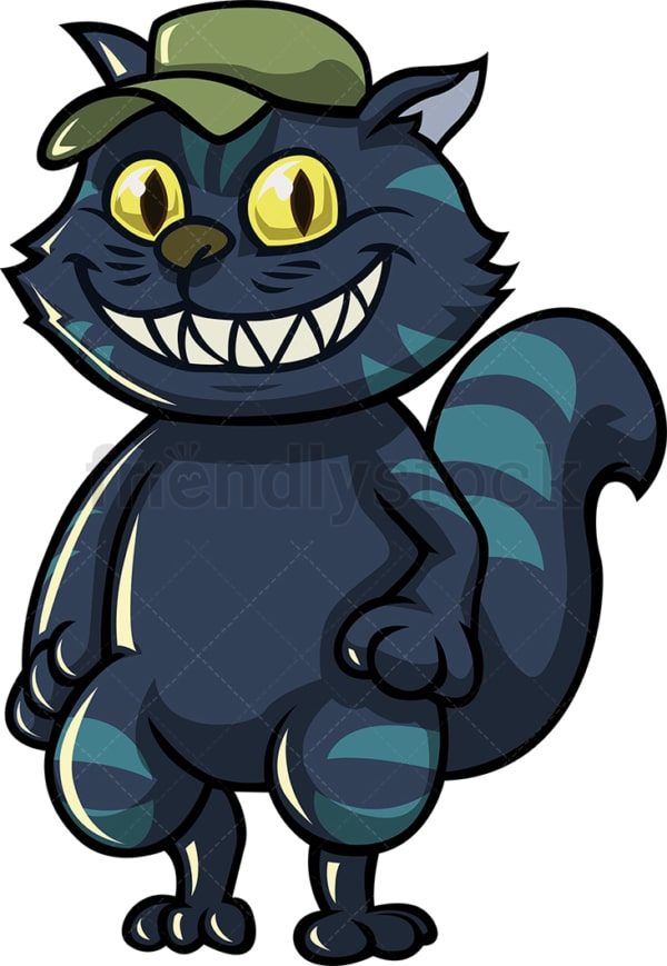 Scary cat cartoon character. PNG - JPG and vector EPS (infinitely scalable).