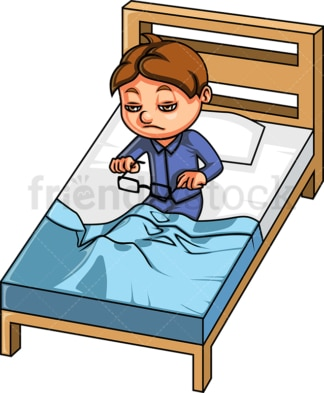 Kid waking up in the morning. PNG - JPG and vector EPS (infinitely scalable).